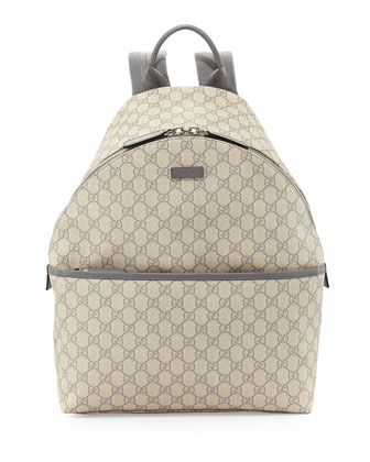 GG Supreme Canvas Backpack, Gray
