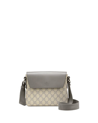GG Supreme Canvas Messenger Bag, Gray