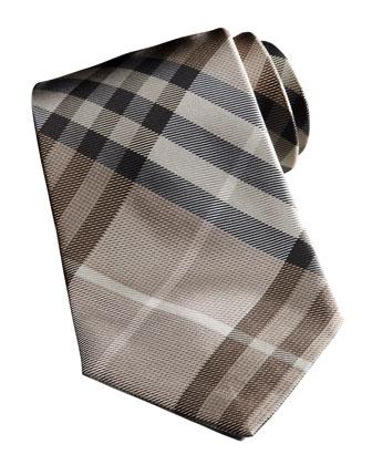 Basic Check Tie, Camel