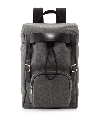 Men's Hunting Flannel Backpack, Gray