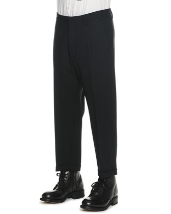 Dropped-Inseam Cropped Trousers