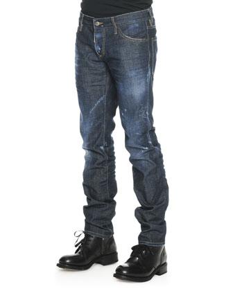 Med Indigo Slim-Leg Denim Jeans