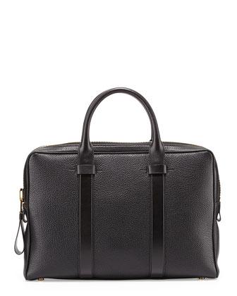 Buckley Leather Briefcase, Black