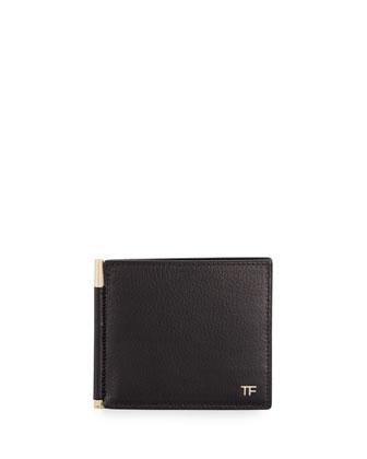 Calfskin Bi-Fold Wallet, Black