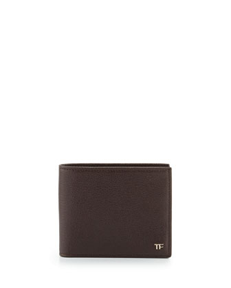 Calfskin Billfold Wallet, Brown