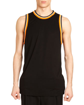 Tank with Orange Tipping, Black