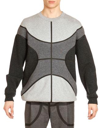 Basketball Wool Sweatshirt, Gray Multi
