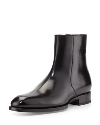 Edward Zip Boot, Black