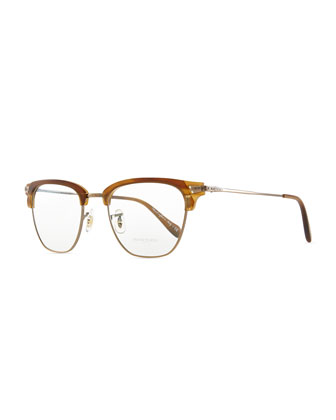 Banks Half-Rim Men's Fashion Glasses, Brown