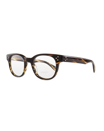 Afton Rounded Men's Fashion Glasses, Brown