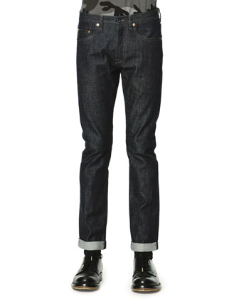 Dark Clean-Wash Denim Jeans