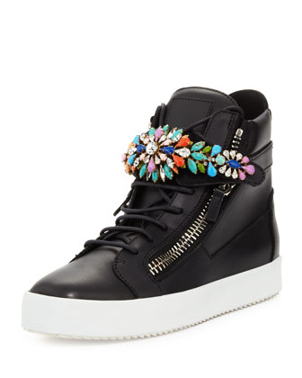 Men's Jewel-Strap High-Top Sneaker