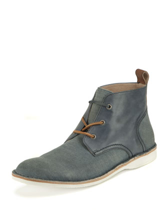Dorchester Canvas & Leather Saddle Chukka, Light Brown