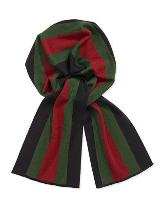 Crook Knit Striped Scarf