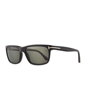 Hugh Acetate Sunglasses, Black