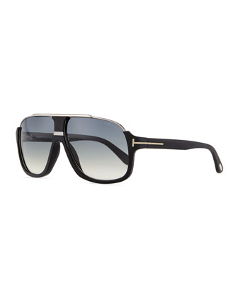 Elliot Acetate Sunglasses, Black