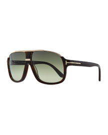 Elliot Acetate Sunglasses, Brown