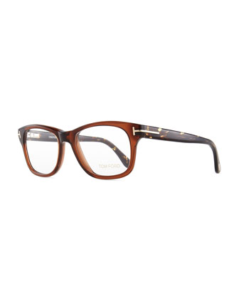 Acetate Fashion Glasses, Brown