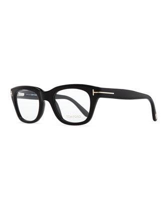 Large Acetate Fashion Glasses, Black