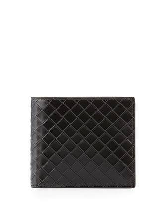 Sculpito Leather Wallet, Black