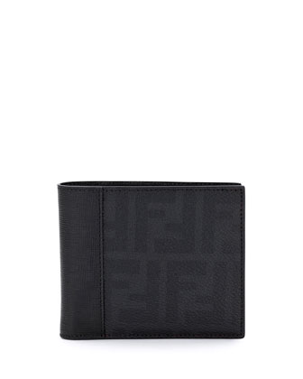 Zucca Leather Wallet, Black
