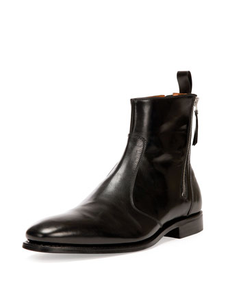 Back-Zip Tuxedo Boot, Black