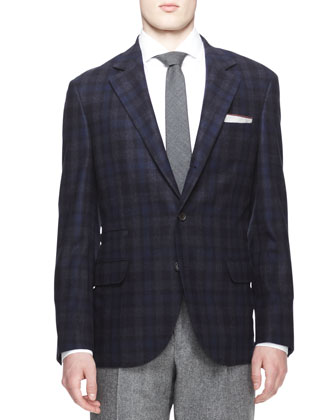 Madras Check Three-Button Sport Coat