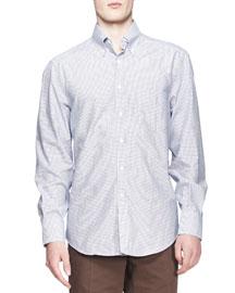 Small-Windowpane-Check Shirt