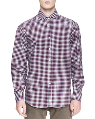 Twill Micro-Madras Shirt