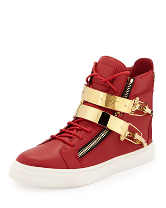 Men's Ski-Buckle High-Top Sneaker