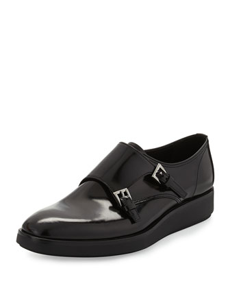 Double-Monk Flatform Shoe