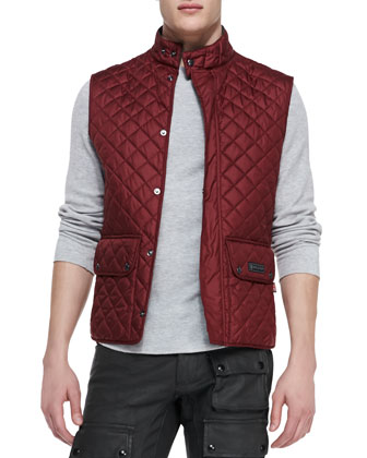 Quilted Vest, Dark Red