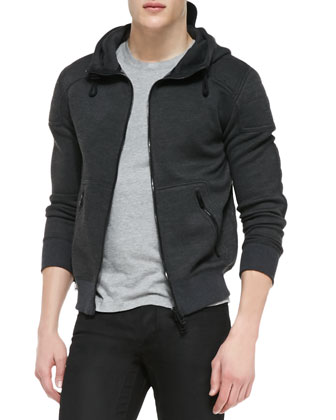 Webster Luxe Fleece Hoodie, Gray