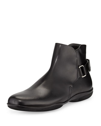 Chelsea Grip-Strap Boot, Black