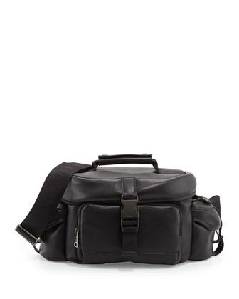 Calfskin Leather Camera Case, Black