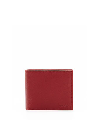 American Classic Saffiano Wallet, Red