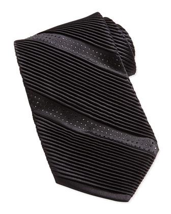 Crystal Silk Tie, Black