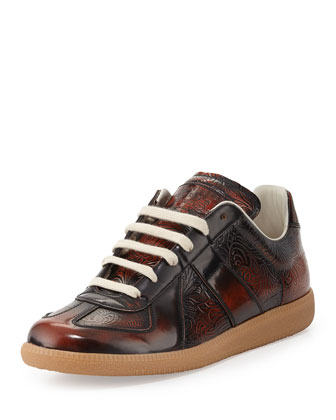Replica Etched Leather Sneaker
