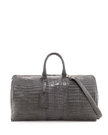 Speedy Crocodile Duffel Bag, Charcoal