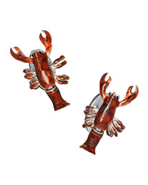 Hand-Painted Lobster Cuff Links