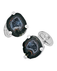 Sterling Druzy Cuff Links