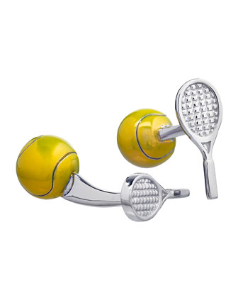 Tennis Ball & Racquet Cuff Links