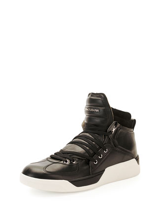 Benelux Leather High-Top Sneaker