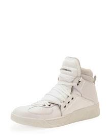Benelux High-Top Sneaker, White