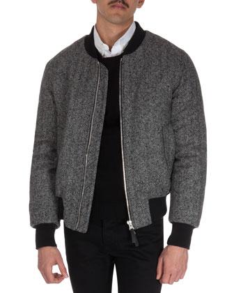 Herringbone Varsity Jacket