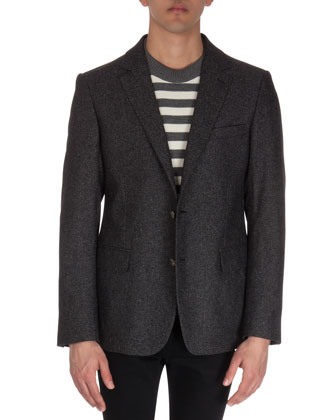 Speckled Two-Button Blazer