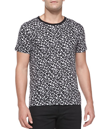 Leopard-Print Jersey Tee