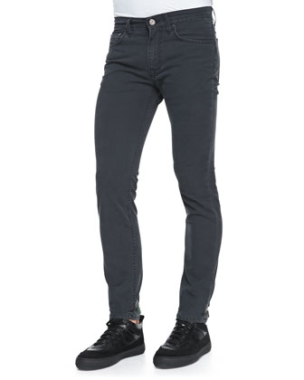 Ace Skinny Five-Pocket Jeans, Dark Gray