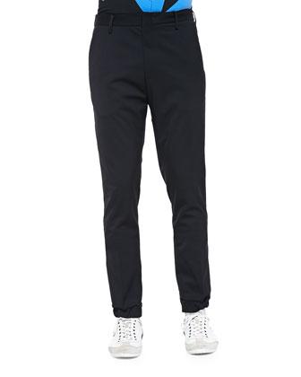 Tech-Wool Jogger Pants, Black