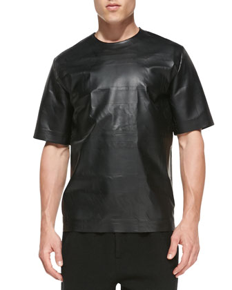 Short-Sleeve Laser-Cut Vinyl Shirt